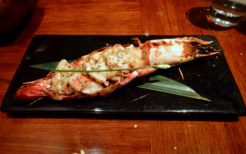 Char-grilled Jumbo Madagascan King Prawn at Amaya