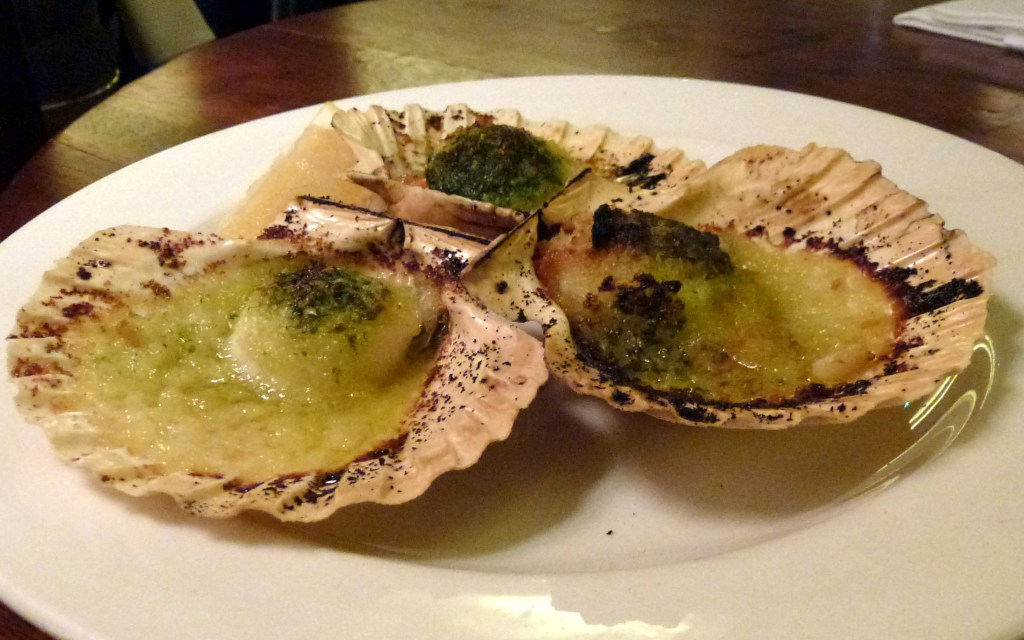 Scallops in port and garlic at Hawksmoor air street