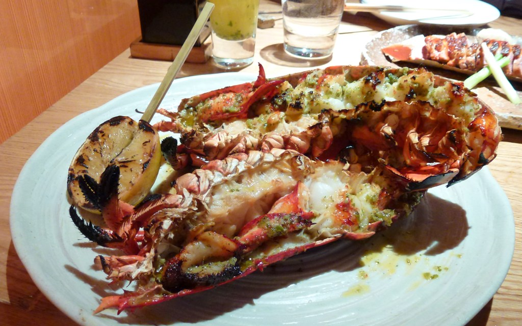Lobster, garlic, hojisu butter at zuma