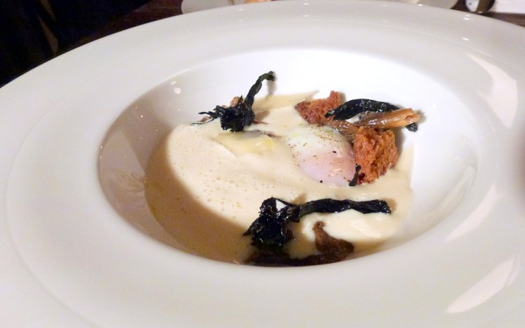 Parsnip veloute, slow cooked egg, little social restaurant london