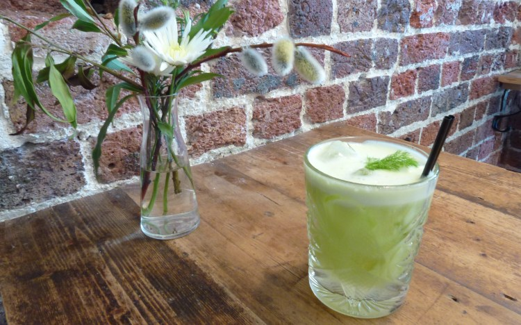Fennel & apple hendricks at the dairy