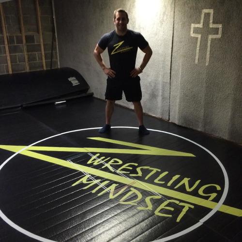 brand new wrestling mindset mat in the basement wrestlingmindset