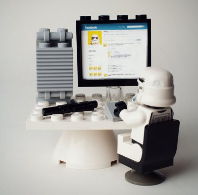 social media policy lego stormtrooper