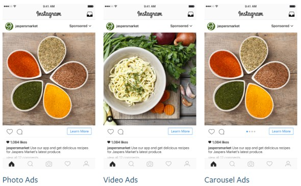 Instagram Advertising Formats