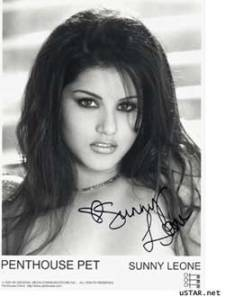 Sunny Leone signature