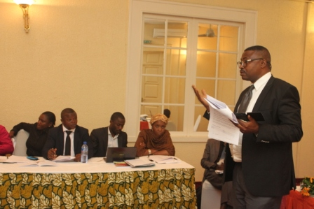 Another participant making his presentation at the legal-writing workshop, Sheraton. Lagos.