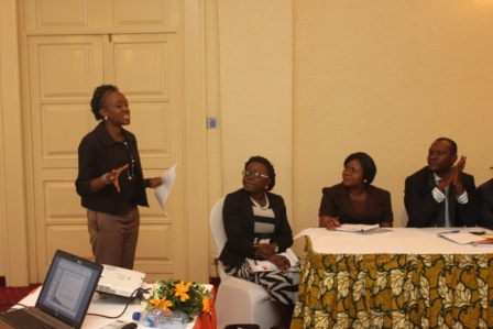 One of the workshop participants making her presentation.