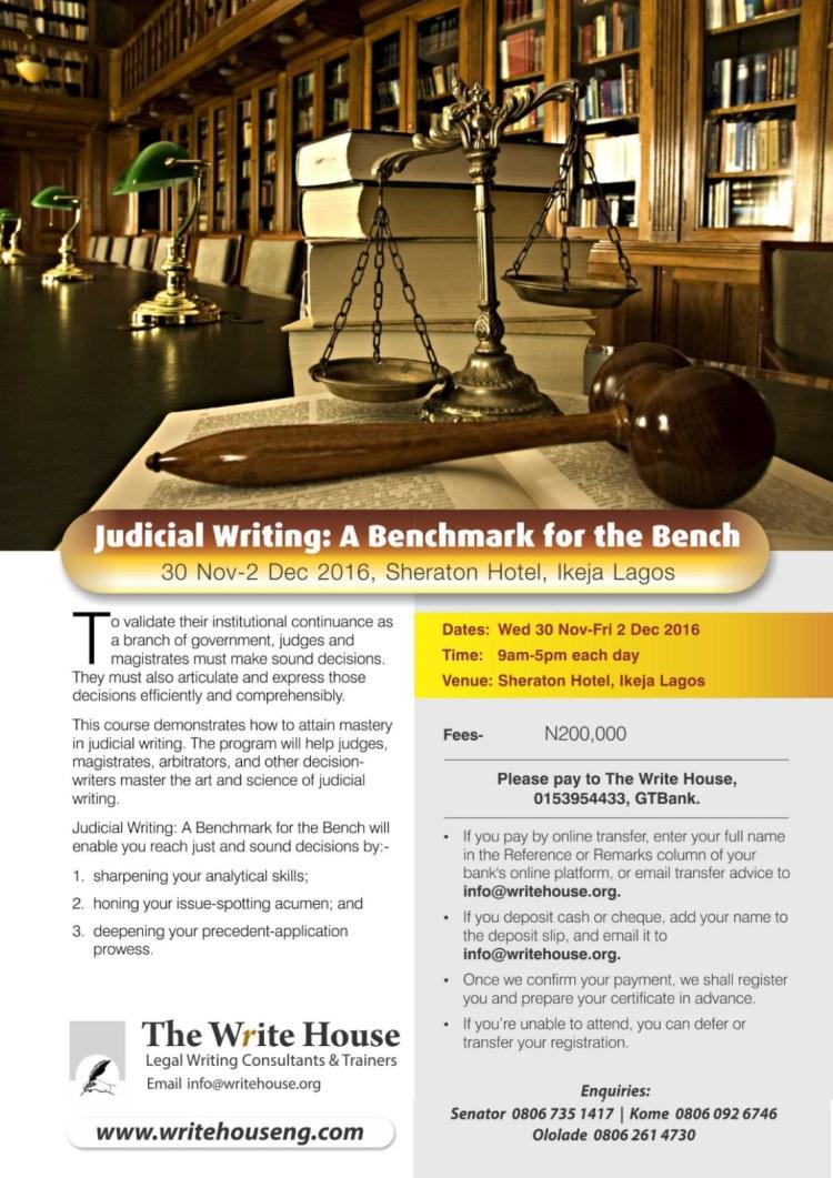 Judicial Writing 2016