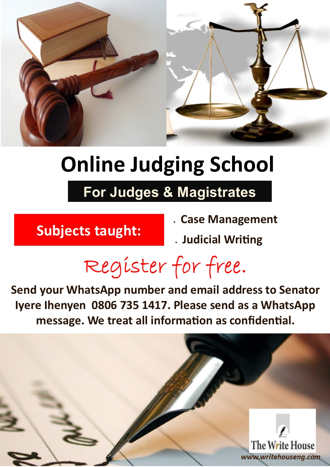 online judging school by the write house the write house online judging school is for judges and magistrates are you are a judge or magistrate do you want to have access to quality judicial writing lectures