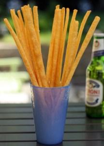 Homemade cheese straws