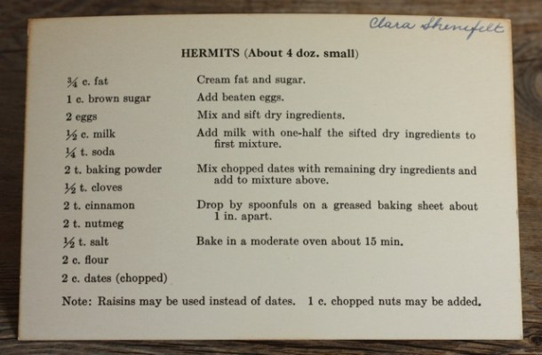 Hermit cookie recipe