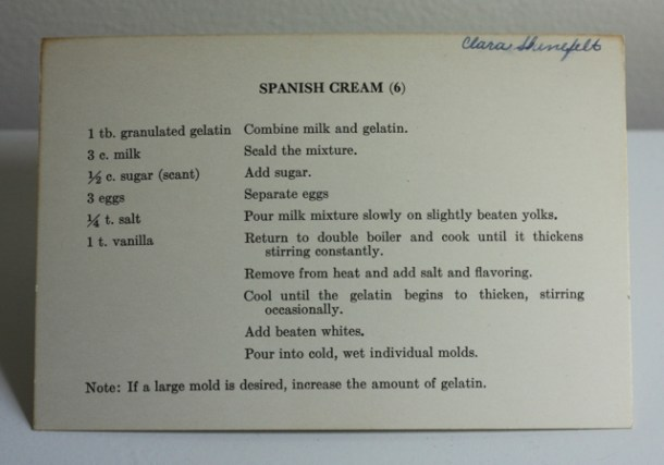 spanish cream recipe