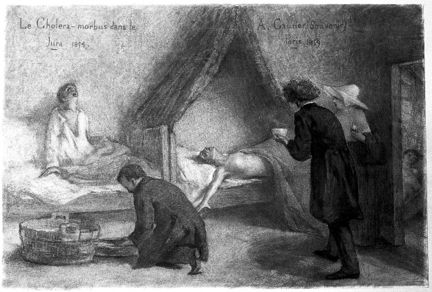L0012076 Patients suffering from cholera in the Jura during the 1854