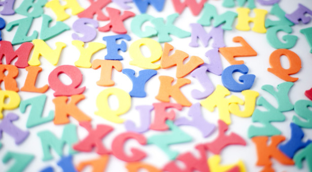 Random colorful letters