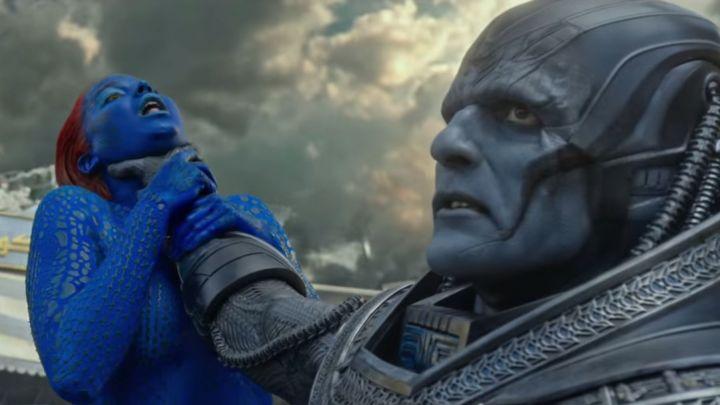 Apocalypse - Oscar Isaacs and Jennifer Lawrence