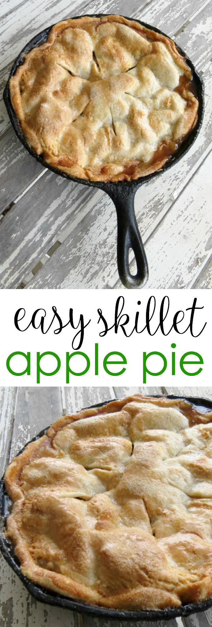 Large Of Skillet Apple Pie