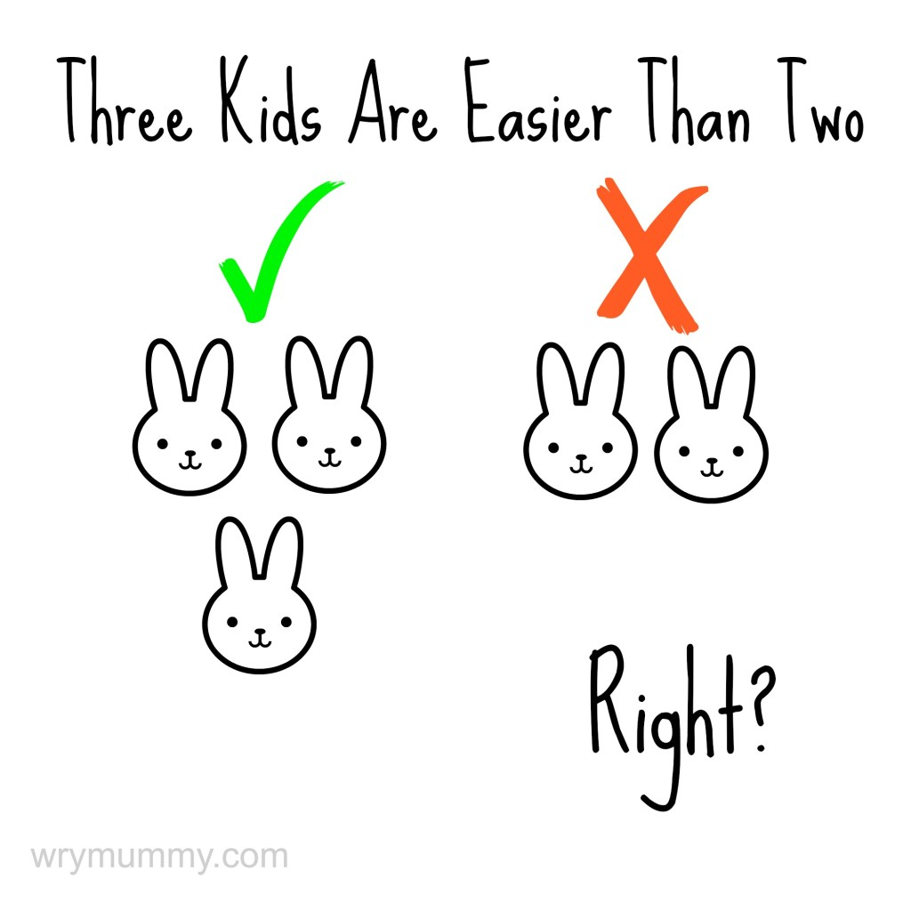 Three Kids Are Easier Than Two