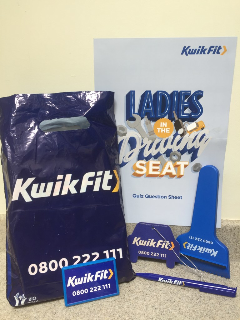 Kwik-Fit goodie bag