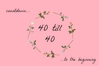 40till40 logo image