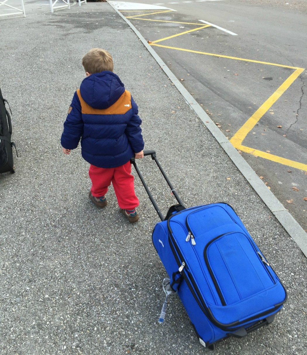 Tinks with suitcase
