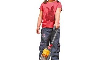 If Kids Did Lent girl hoovering