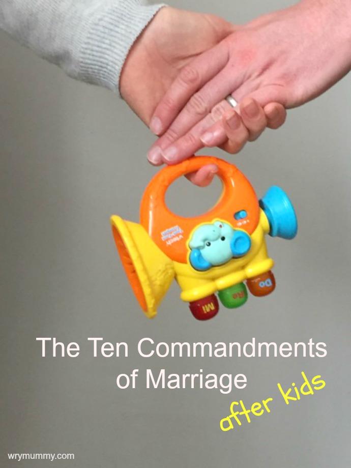 Commandments of marriage ed
