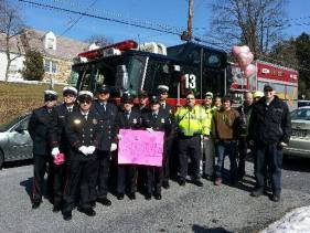 Firefighters welcome home a Lemoyne girl coming from cancer treatment