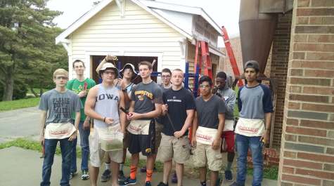 Students complete shed for West teacher