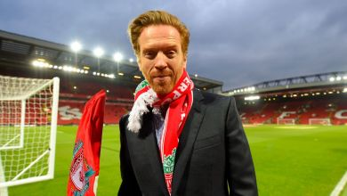 Photo of Liverpool fan Damian Lewis posts cringeworthy video as he travels to Champions League Final