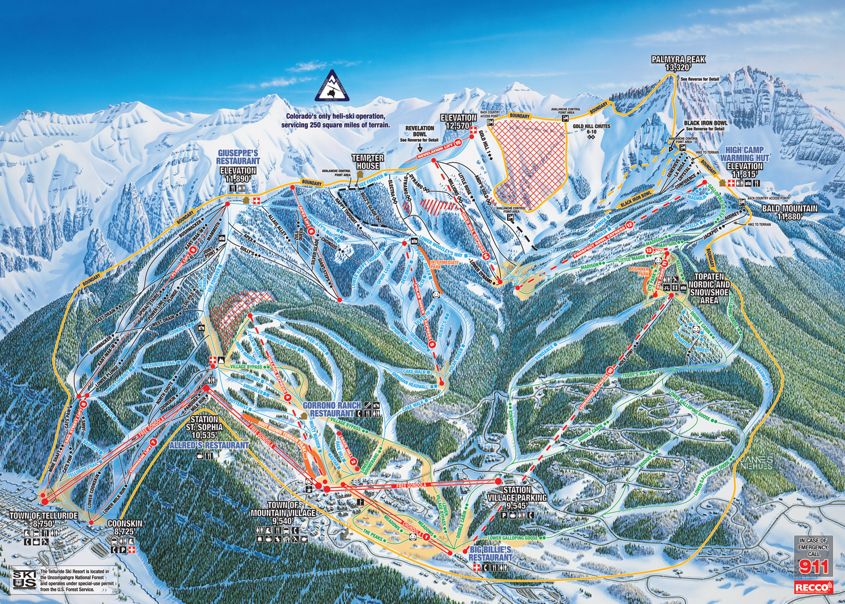 map ski resort