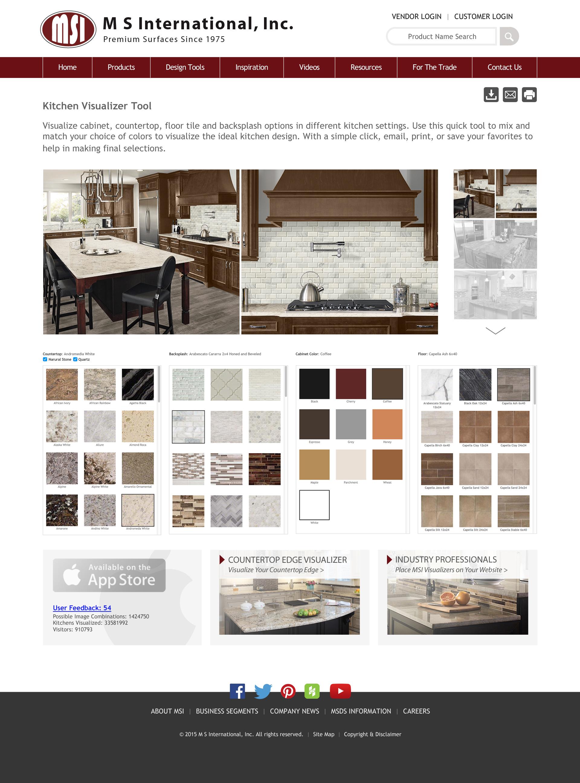 prweb virtual kitchen designer M S International Inc Announces Updates to Its Virtual Kitchen Designer Tool