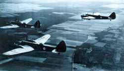 A trio of Bristol Blenheim IV bombers.
