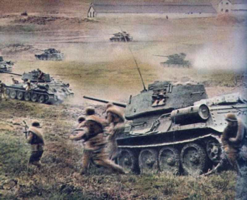 Russian vs German tanks in WW II