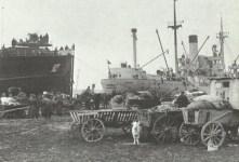 Loading of evacuation vessels in East Germany