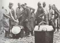 Italian POW's wearing the uniform of the fascist MVSN militia