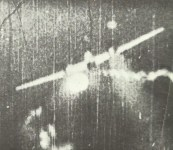 engine of a Me 110 is exploding