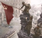 Red flag on Reichstag