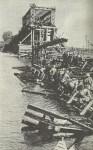 Repair of a bridge across the Dnieper