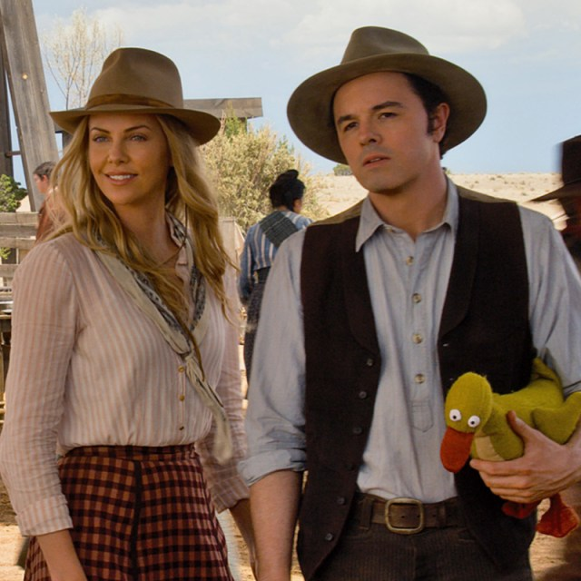 Charlize Theron and Seth MacFarlane in <i>A Milion Ways to Die in the West</i>