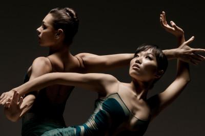 Lines Ballet's Kara Wilkes and Yujin Kim.