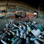 Ephemeral Graffiti in Demolished Alameda Warehouse
