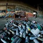 Ephemeral Graffiti in Demolished Alameda Warehouse