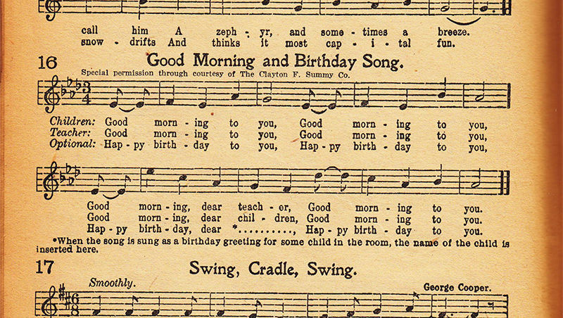 """Happy Birthday"" Song Has Been Set Free"