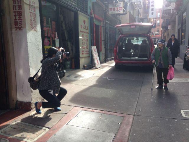 Photographer Andria Lo in Chinatown