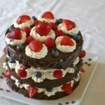 A Tower of Chocolate: The Three-Layer Fourth of July Chocolate Cake