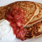 Mother's Day Brunch Recipe: Multigrain Pancakes with Rhubarb-Orange Compote and Greek Yogurt