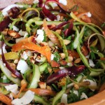 Fresh Spring Salad: Shaved Asparagus and Baby Carrot Salad with Lemon, Ricotta Salata, Almonds, and Parsley