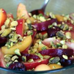 A Bounty of Summer Stone Fruit in a Salad