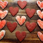 Happy Valentine's Day: Red Velvet Sugar Cookie Hearts with Cream Cheese Frosting
