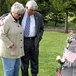 Bill Shea and his wife Mary from Sonoma. Their son Army Corporal Timothy Shea was killed in Iraq. Scott Shafer/KQED